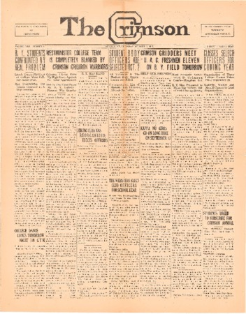 The Crimson, October 8, 1925