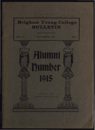 Brigham Young College Bulletin,  December 1915