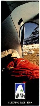 Sierra Designs, Sleeping Bags, 1989