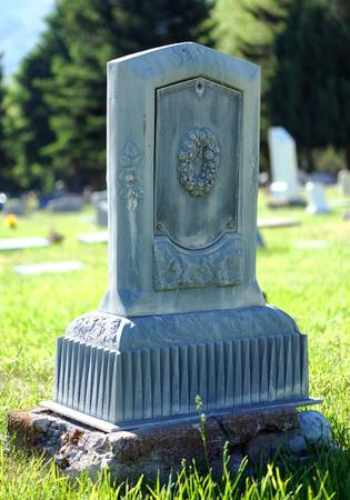 Logan cemetery headstone, 5