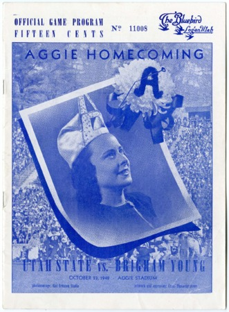 Football program: Utah State vs. Brigham Young University, October 23, 1948
