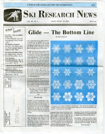Ski Research News, 1988