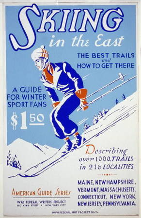 """""""Skiing in the East"""" American Guide Series Poster"""