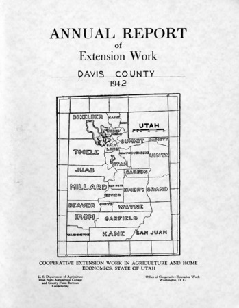 Annual Report of Extension Work Agents, Davis County, 1942