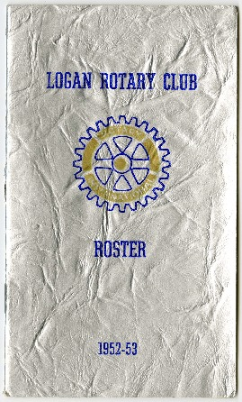 Logan Rotary Club Roster, 1952-53
