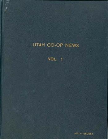 Utah Cooperative News, October 28, 1936, Vol. 1, No.1
