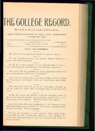 The College Record, May 26, 1893