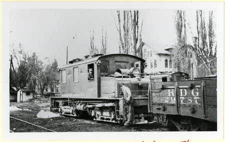 U.I.C. Freight Engine, Motorman, and Conductor at a Wye Stop<br />