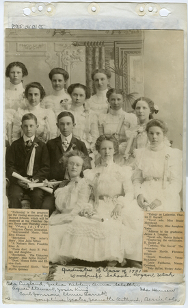 Graduates from the Woodruff school 1901