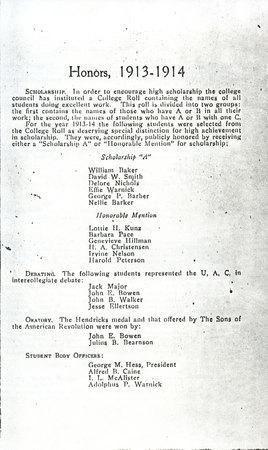 1914 UAC Commencement Program Page 5