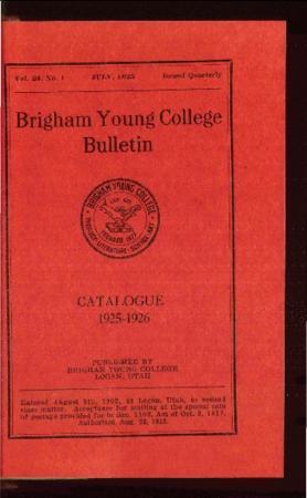 Brigham Young College Bulletin, July 1925