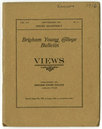 Brigham Young College Bulletin,  September 1916