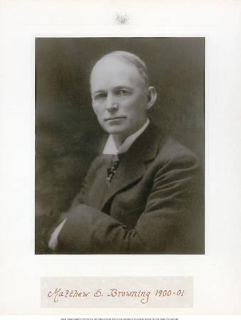 Matthew S. Browning, Ogden City Mayor, 1900-1901<br />