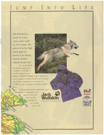 Jack Wolfskin Outdoor Equipment, undated