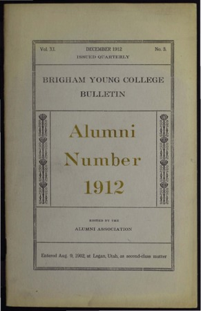 Brigham Young College Bulletin, Decemberr 1912