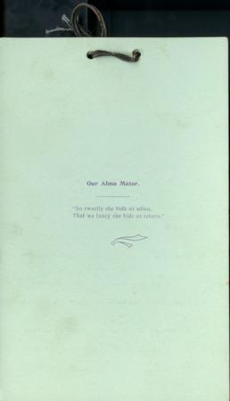 1895 UAC Commencement Menu Back Cover