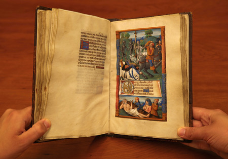 Pages 136 and 137, beginning the Office of the Dead, Use of Rome.
