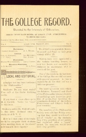 The College Record, March 17, 1893