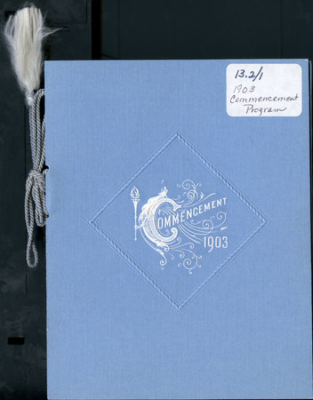 1903 UAC Commencement Program Cover