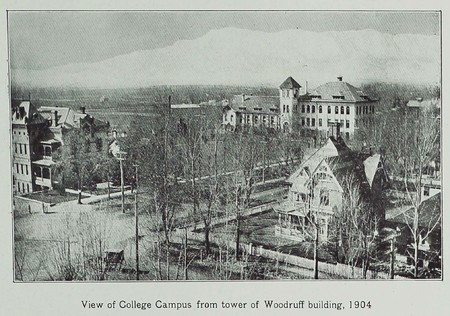 View of College Campus from tower of Woodruff building, 1904