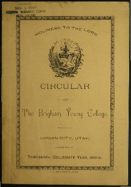 B.Y.C. Circular - Thirteenth Collegiate Year