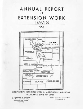 Annual Report of Extension Work Agents, Davis County, 1951