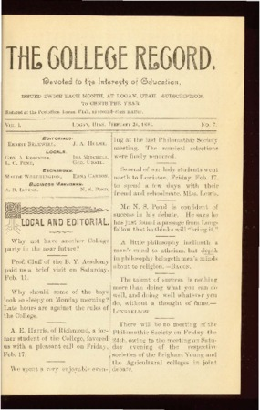 The College Record, February 24, 1893
