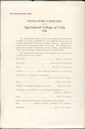 1908 UAC Commencement Program Page 12