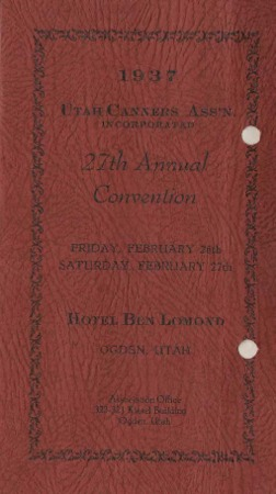 Utah Canners Association 27th Annual Convention, 1937