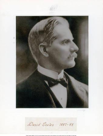 David Eccles, Ogden City Mayor, 1887-1888<br />