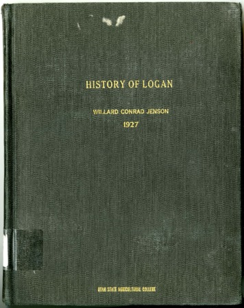 History of Logan by Willard Conrad Jenson
