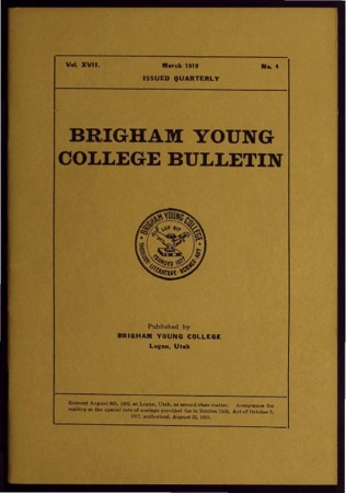 Brigham Young College Bulletin, March 1919