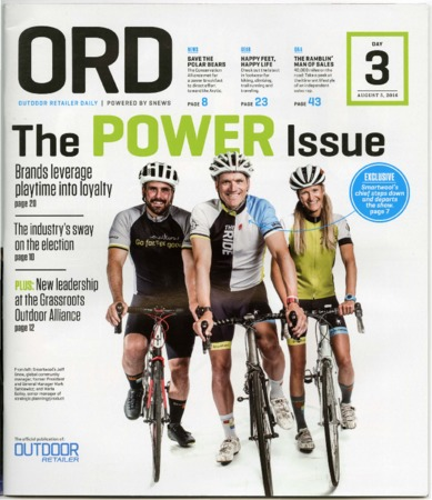 Outdoor Retailer Daily, The Power Issue, 2016