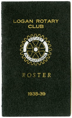 Logan Rotary Club Roster, 1938-39