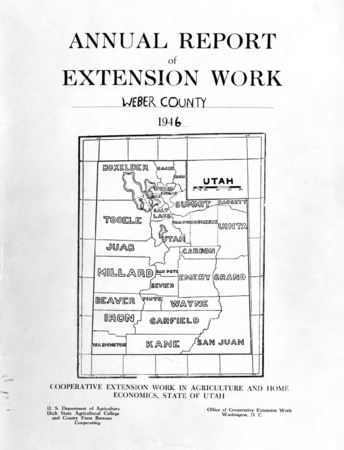 Annual Report of Extension Work Agents, Weber County, 1946