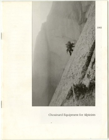 Chouinard Equipment for Alpinists, 1983