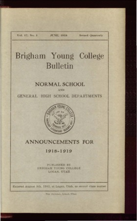 Brigham Young College Bulletin, June 1918