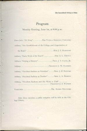 1908 UAC Commencement Program Page 7