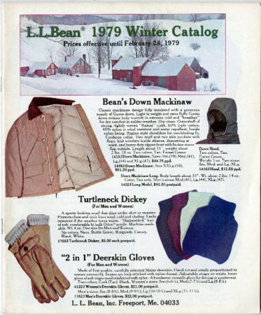 L.L. Bean, Winter 1979