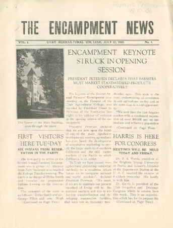 Encampment News Volume 1, Number 1