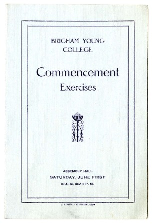 Undated Commencement Program (1 of 2)