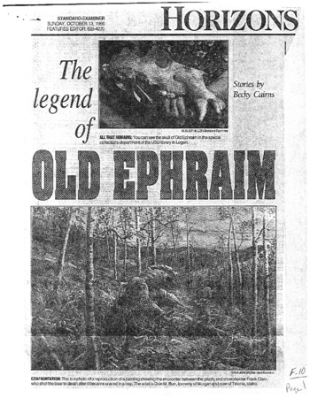 "Standard Examiner's ""The Legend of Old Ephraim"""