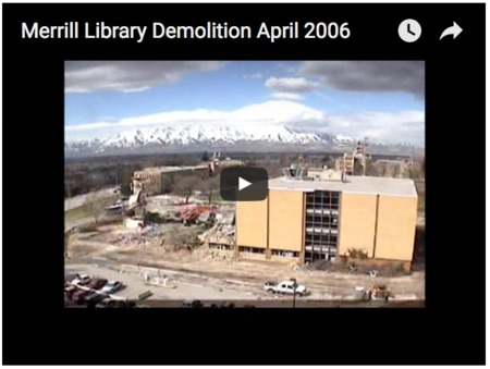 Merrill Library Demolition April 2006