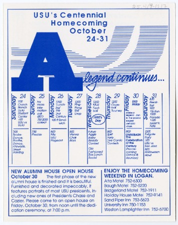 Homecoming schedule, 1998