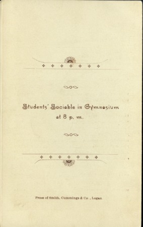 1894 UAC Commencement Program Back Cover