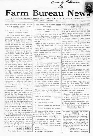 Farm Bureau News, Cache County, Volume VIII, Number 5, October 1924