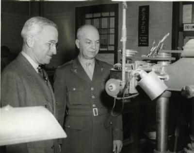 Senator Truman visits Bushnell hospital