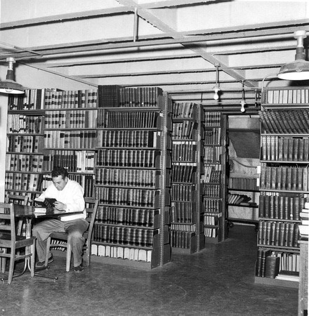 Auxilliary Library, basement, Student Union building, 1960s
