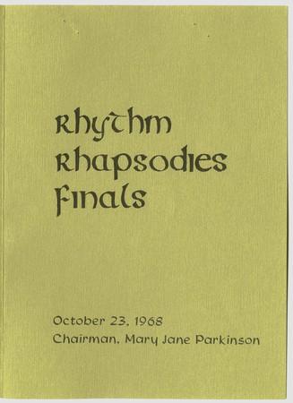 Rhythm Rhapsodies program, 1968