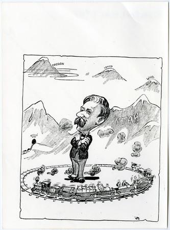 Cartoon of David Eccles and His Industrial Empire<br />